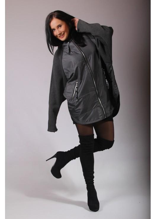 Женская осенняя куртка с трикотажем