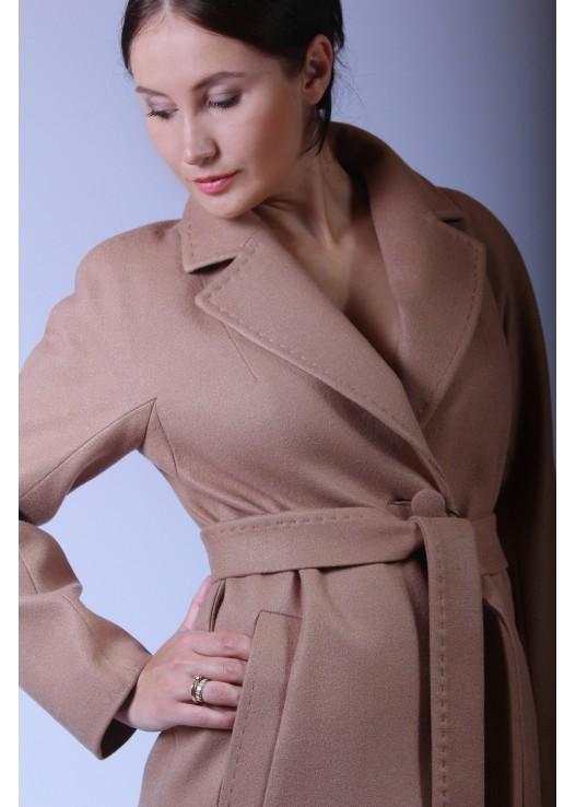 Женское осеннее пальто халатного типа 2019