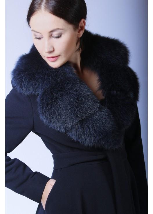 Женское зимнее пальто с юбкой Зима 2019-2020