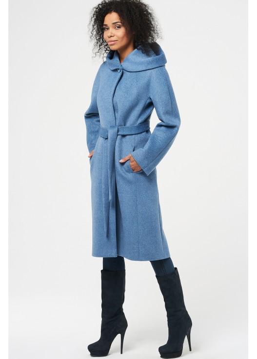Женское осеннее пальто с капюшоном