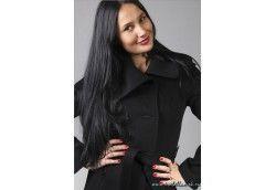 Черное итальянское пальто из альпаки. Артикул Vip-4097 черный
