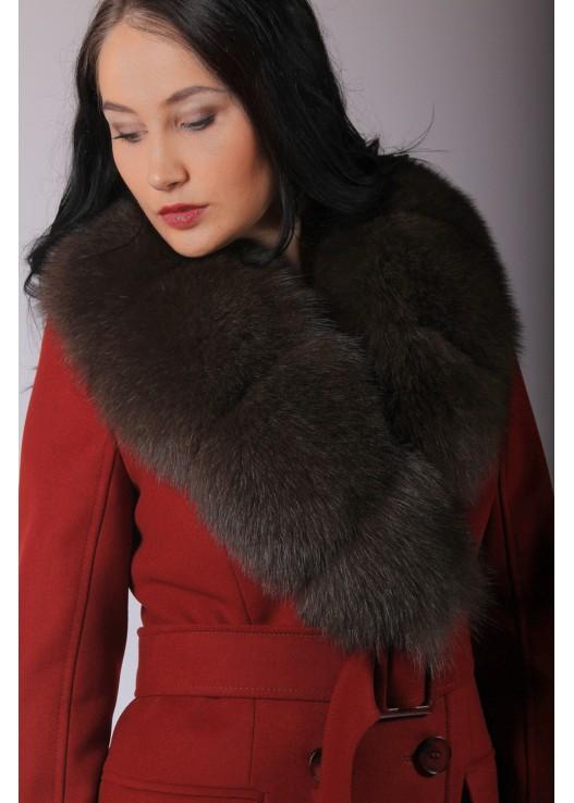 Красное женское пальто Зима 2019-2020