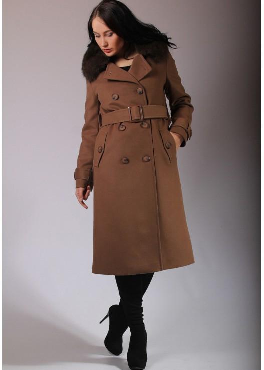 Женское зимнее пальто в стиле милитари