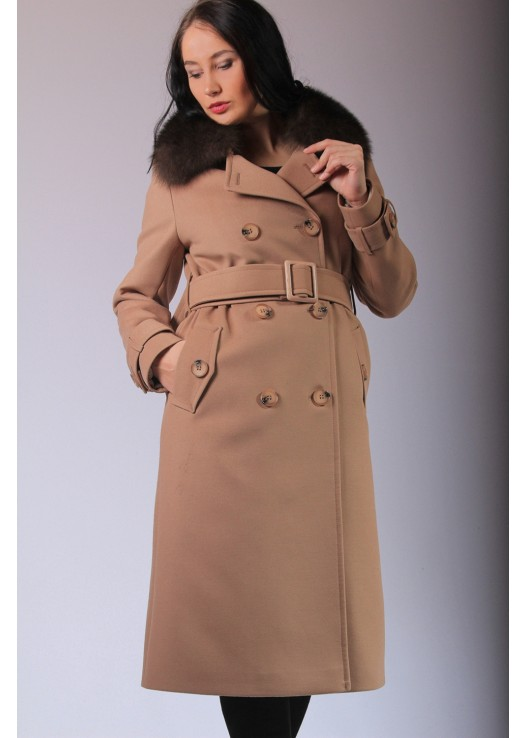 Зимнее женское пальто в стиле макс мара