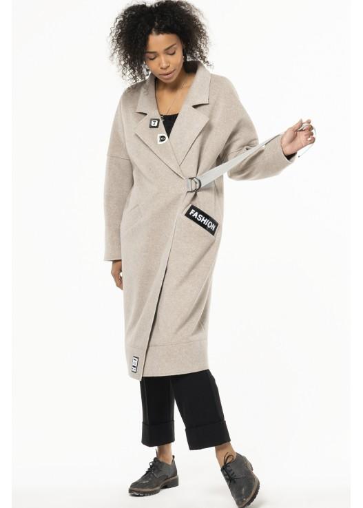 Женское пальто свободного кроя Весна 2020