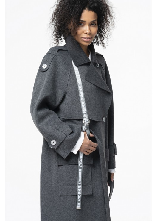 Резаное дизайнерское пальто