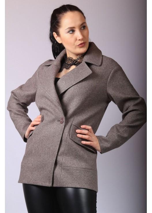 Женское короткое пальто пиджак
