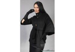 Женское итальянское пальто. Артикул Vip-4029 черный