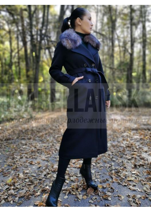 Классическое зимнее пальто с мехом 2020