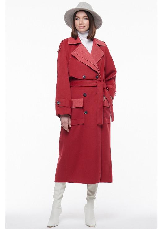 Стильное демисезонное пальто 2021
