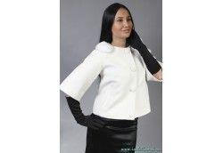 Белое пальто для невесты. Артикул Vip-4260 белый