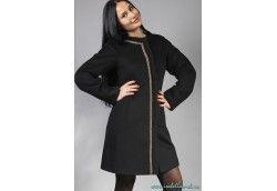 Пальто женское из альпаки. Артикул Vip-4215 черный
