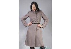 Женскское молодежное стильное пальто. Артикул Vip-4193 серый