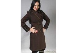 Женское итальянское пальто из кашемира отделанное кожей