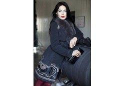 Женское стильное пальто зима. Артикул 941 черный