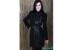 Женское пальто. Артикул: Ram 146 черн