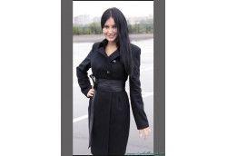 Женское молодежное пальто. Артикул 424 черный