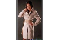 Женское молодежное пальто. Артикул 424 бежевый